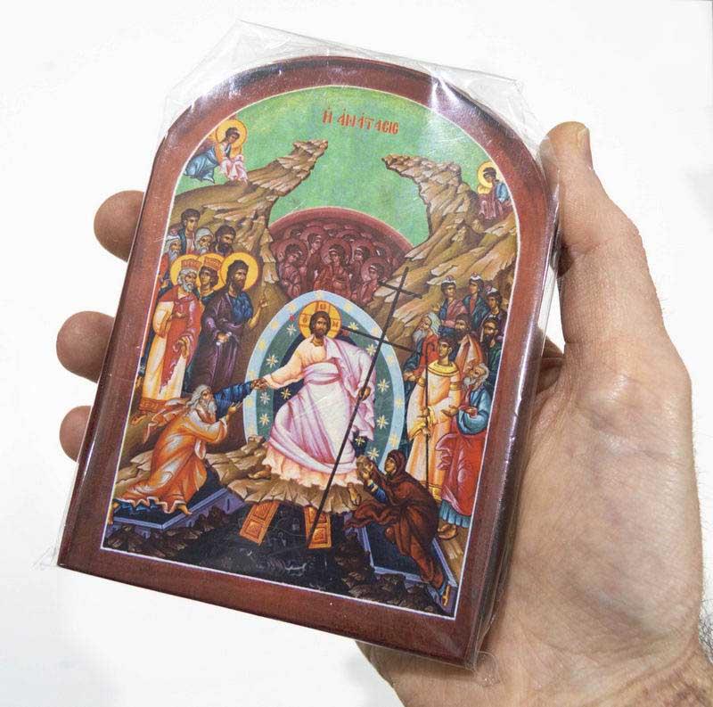 Εκκλησιαστικά Είδη ΞΥΛΙΝΕΣ ΕΙΚΟΝΕΣ ΜΕ ΚΑΜΠΥΛΗ ΜΕΣΑΙΕΣ (81-219)