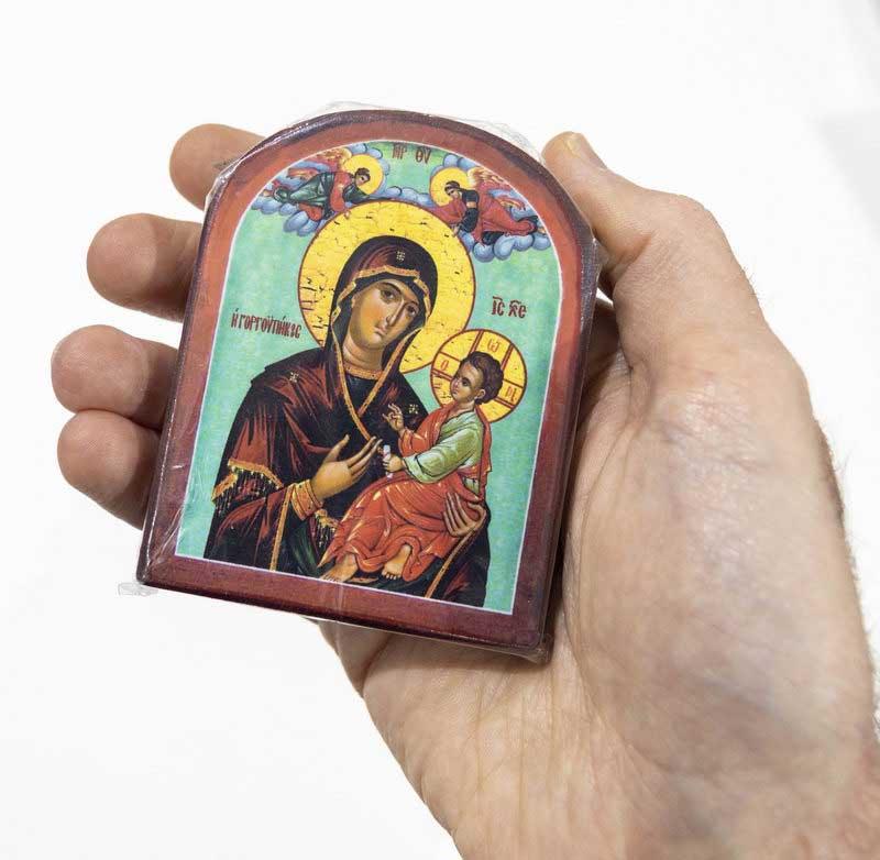 Εκκλησιαστικά Είδη ΞΥΛΙΝΕΣ ΕΙΚΟΝΕΣ ΜΕ ΚΑΜΠΥΛΗ ΜΙΚΡΕΣ (81-218)